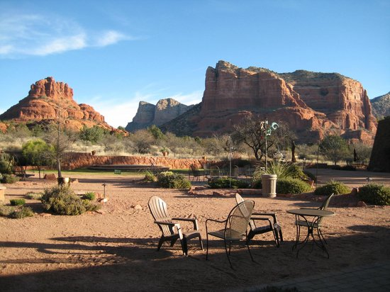 The Red Agave Resort: The view from our room