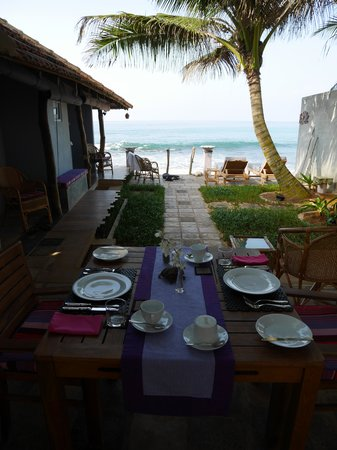 EKA Beach: Table with a view