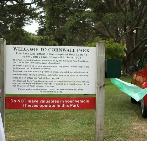 Parque Cornwall: Entrance