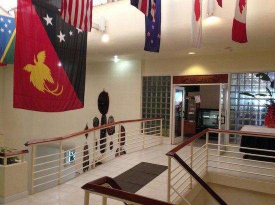 Goroka, Papua New Guinea: Lobby area