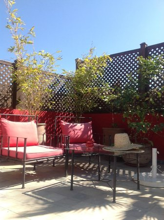 Riad Badi: the lovely roof terrace