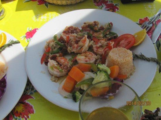 El Capitano: shrimp plate