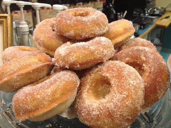 Latte Da Cafe: They only do their homemade donuts on Saturday mornings, but so worth the wait.