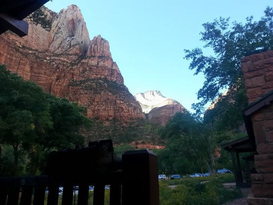Zion Lodge: view from our porch