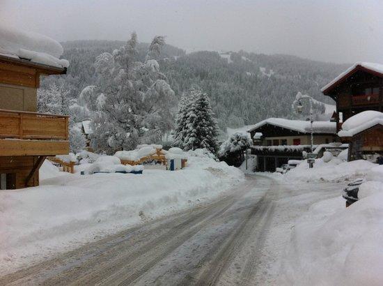 Ski Les Gets: Route du Lery vers la Turche