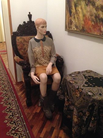 Rachmaninov Art-Hotel: Quirky Mannequin Outside my Room