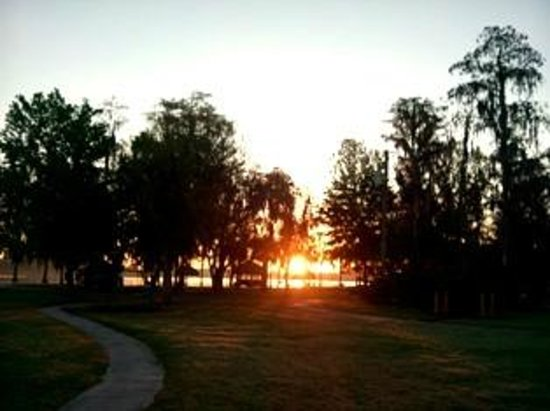 Star Island Resort and Club : Sunrise over Lake Cecile -- beautiful!