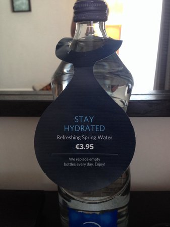 Hilton Dublin: It's all extra, water, wifi etc etc