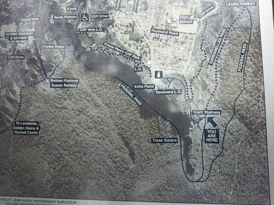 Lilianfels Resort & Spa - Blue Mountains: Map of Treks