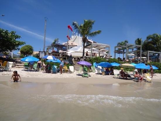 Pousada dos Sonhos: o hotel visto da praia