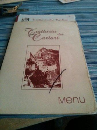 Trattoria dei Cartari: Il menu
