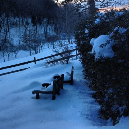 Glasbern Inn - Fogelsville / Allentown: A view from our room after 20 inches of snow