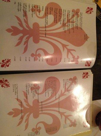 Il Porcospino: menu