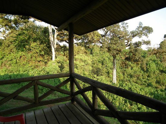Ngorongoro Rhino Lodge: Terraza de la habitación.