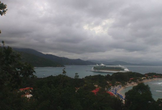 Labadee, Haiti: Storm over the ship