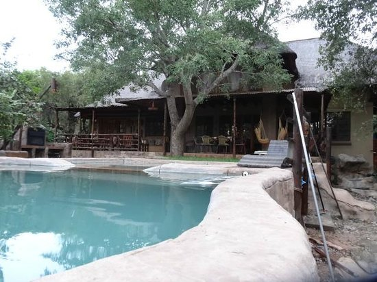 Khaya Umdani Guest Houses: Rear view of the house and pool