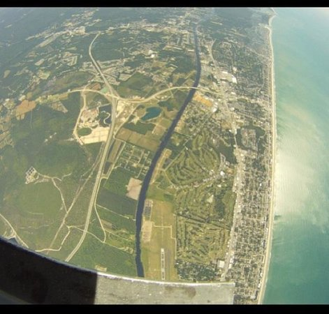 Skydive Myrtle Beach : View from plane on coast