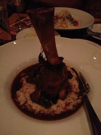 Aida Bistro & Wine Bar: Lamb Shank over risotto