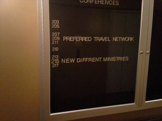 "The Avalon Hotel and Conference Center: Not only is it old fashioned, but that is a new and ""diffrent"" way to spell."