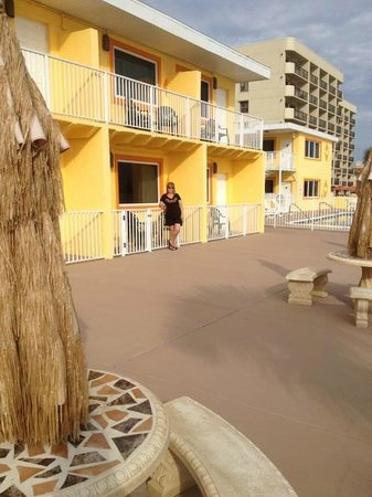 OceanFront Inn and Suites: On the Patio outside our room