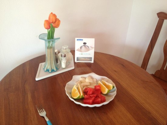 Sea Star Spa: Morning fresh fruit platter