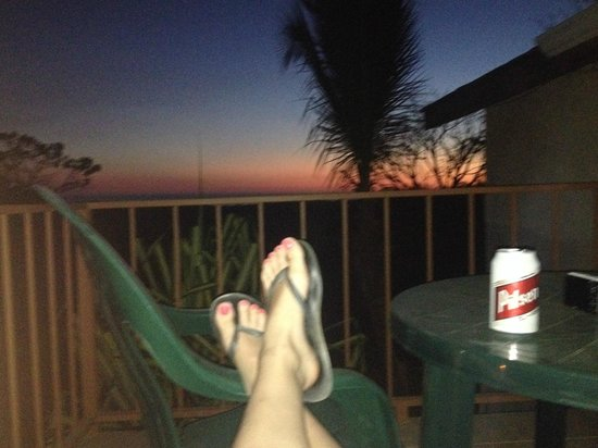 Casa Bambora: relaxing sunset on our balcony