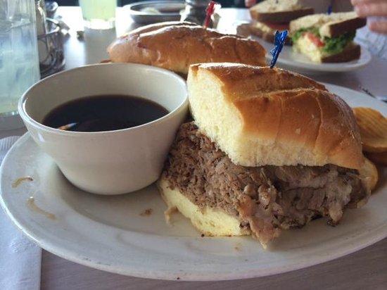 Sherman's Deli & Bakery: Prime Rib Sandwich (au jus)
