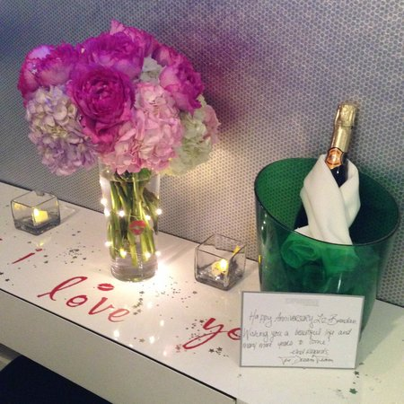 Dream Downtown: Flower and Champagne