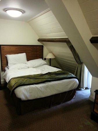 De Vere Horsley Estate: Bedroom mind your head, fine for me I am short