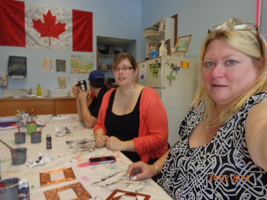 Fairmont Mountainside Vacation Villas: Us in the Craft room at the Rec center