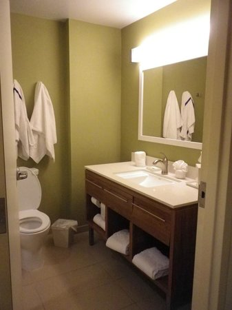 Home2 Suites by Hilton San Antonio Downtown - Riverwalk: Bathroom was very clean and well stocked with everything including a hair dryer.
