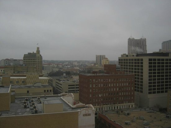 Home2 Suites by Hilton San Antonio Downtown - Riverwalk: The top floor gave us a great view of downtown San Antonio.