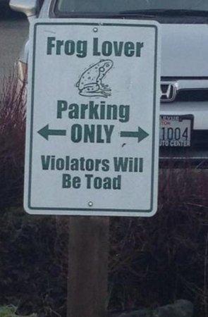 Barking Frog : Frog Parking