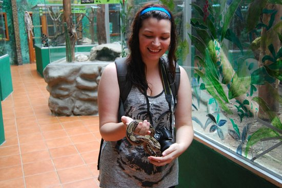 Parque Selvatura: Me and the baby boa