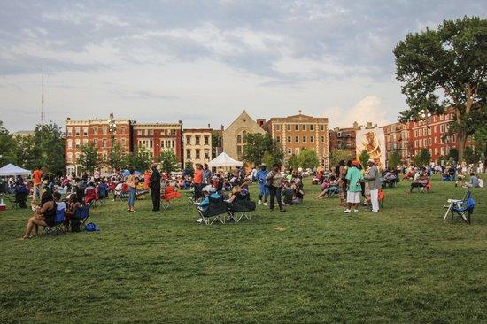 Concert seating at Washington Park