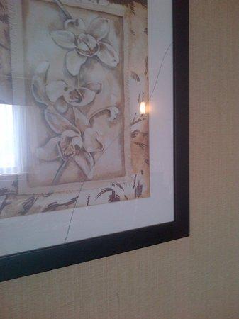 Days Inn Brampton: Broken picture frame
