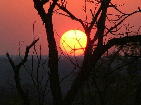 Umlani Bushcamp: Sunset on evening game drive