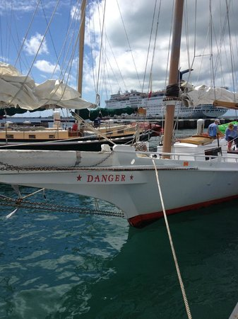 "Danger Charters : ""Danger"" , a cool vessel for KW National Wildlife Refuge snorkeling."