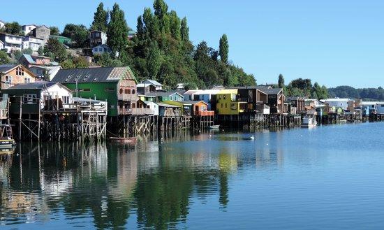 Castro, Chile: Vista de los palafitos