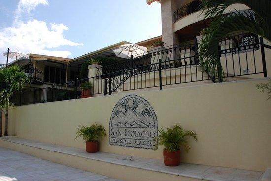 San Ignacio Resort Hotel : The pool area and lovely balconies ...