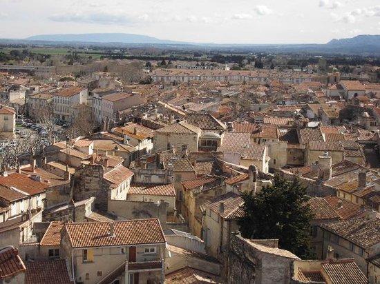 Chateau de Tarascon: panorama sur la ville.