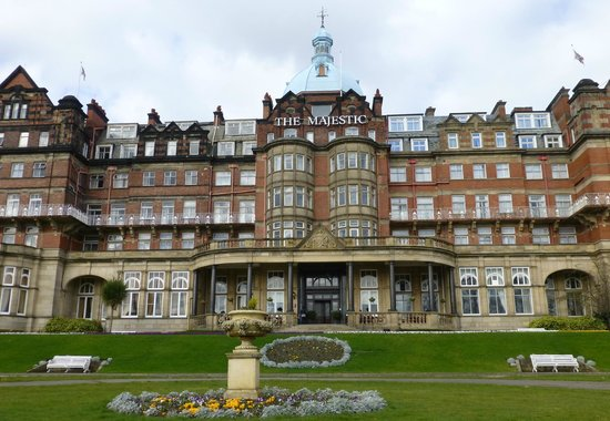 The Majestic Hotel: The imposing Majestic Hotel facade