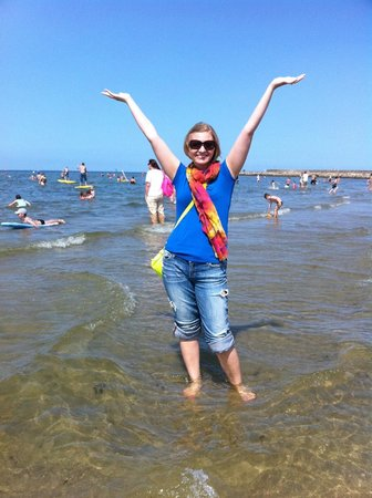 Warnemunde Beach: Wading in the Baltic Sea!!
