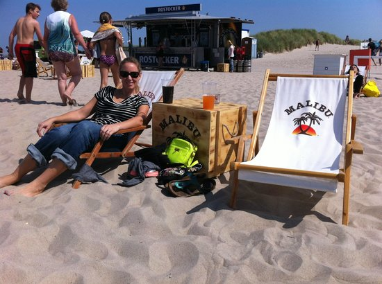 Warnemunde Beach: Relaxing on the beach
