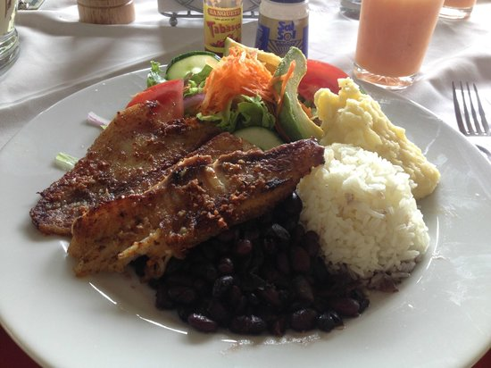 GreenLagoon Wellbeing Resort: lunch fish casada