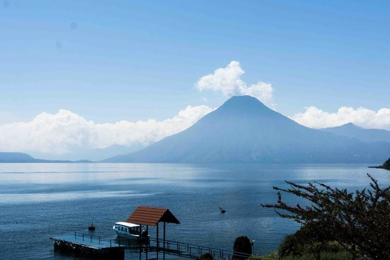 Hotel Atitlan: View Toward Volcan San Pedro from the Hotel Grounds