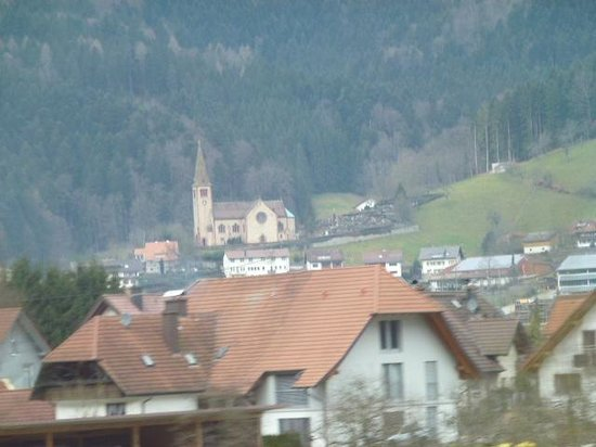 Schloss Hornberg: view of Kinzig Valley from the train
