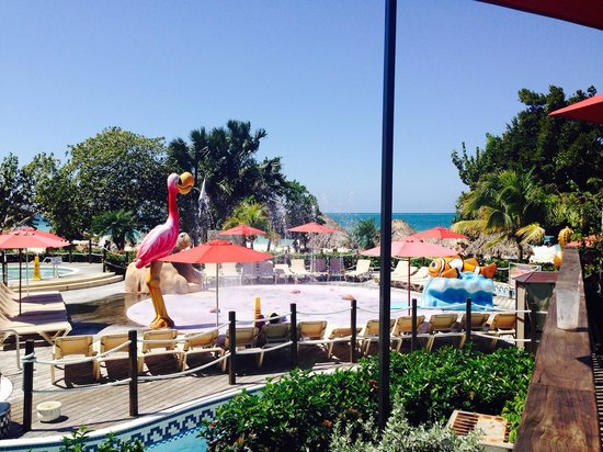 Beaches Negril Resort & Spa: Waterpark view from our room