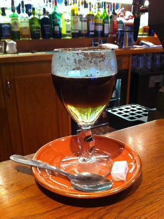 Hotel Les Lanchers : Irish coffee in progress