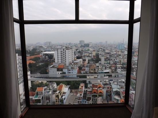 Vissai Saigon Hotel : amazing view looking out over Ho Chi Minh city